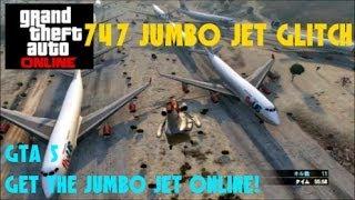 GTA 5 オンライン ジャンボジェットを滑走路に設置する方法 !!747 Jumbo Jet Glitch 【MONCHI】 gta 5  After Patch 1.14
