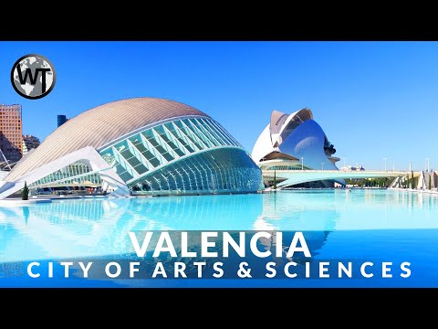 VALENCIA - SPAIN   City of Arts and Sciences Architecture Travelguide & Walking Tour 【4K】