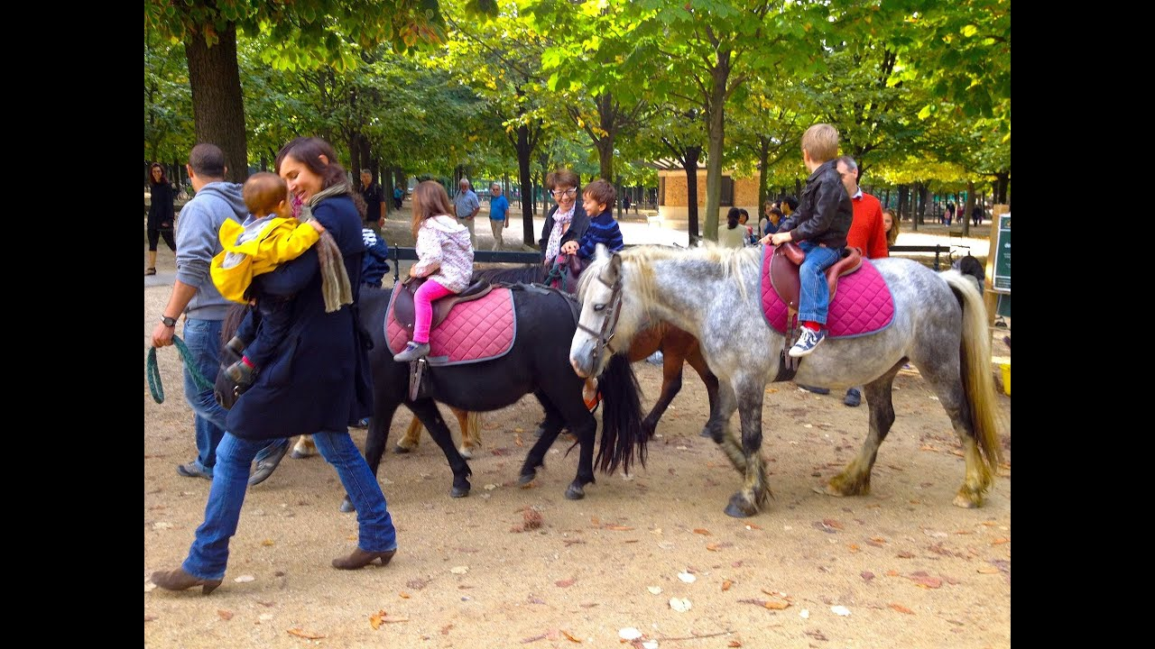 "Jardin du Luxembourg Pony rides and pond yachts ""The Seven Steps"