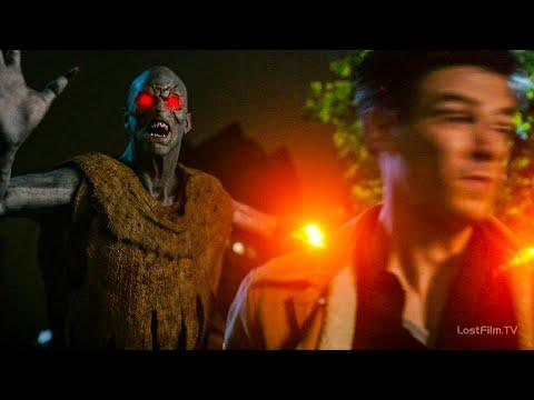 Демон нападает на Барри и Сару