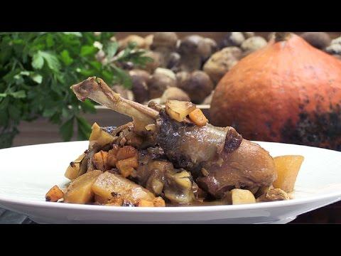 recette-:-poulet-cocotte-aux-cèpes-et-potimarron