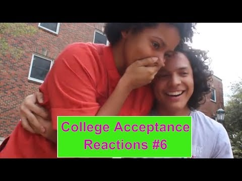 College Acceptance Reactions