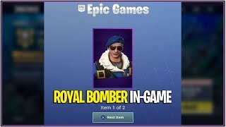 *NEW* Fortnite: Royal Bomber Early Preview In-Game! | (MOST EXPENSIVE SKIN $400!)
