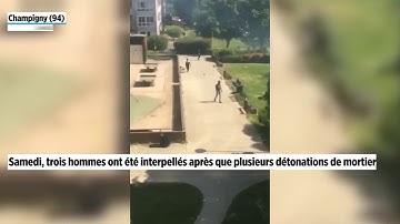 Champigny : la vidéo des interpellations dans le quartier de la place Rodin