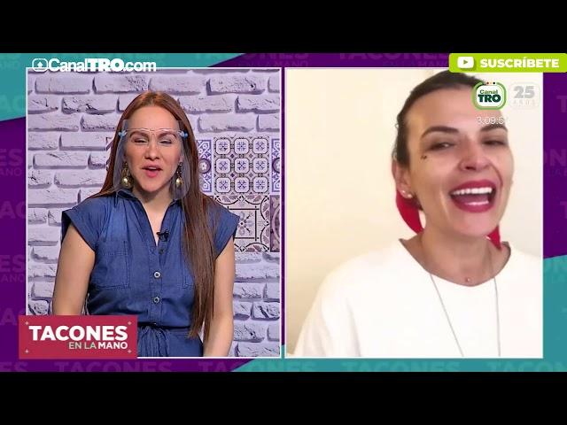 La actriz Margarita Reyes estuvo en el tocador de Tacones en la Mano