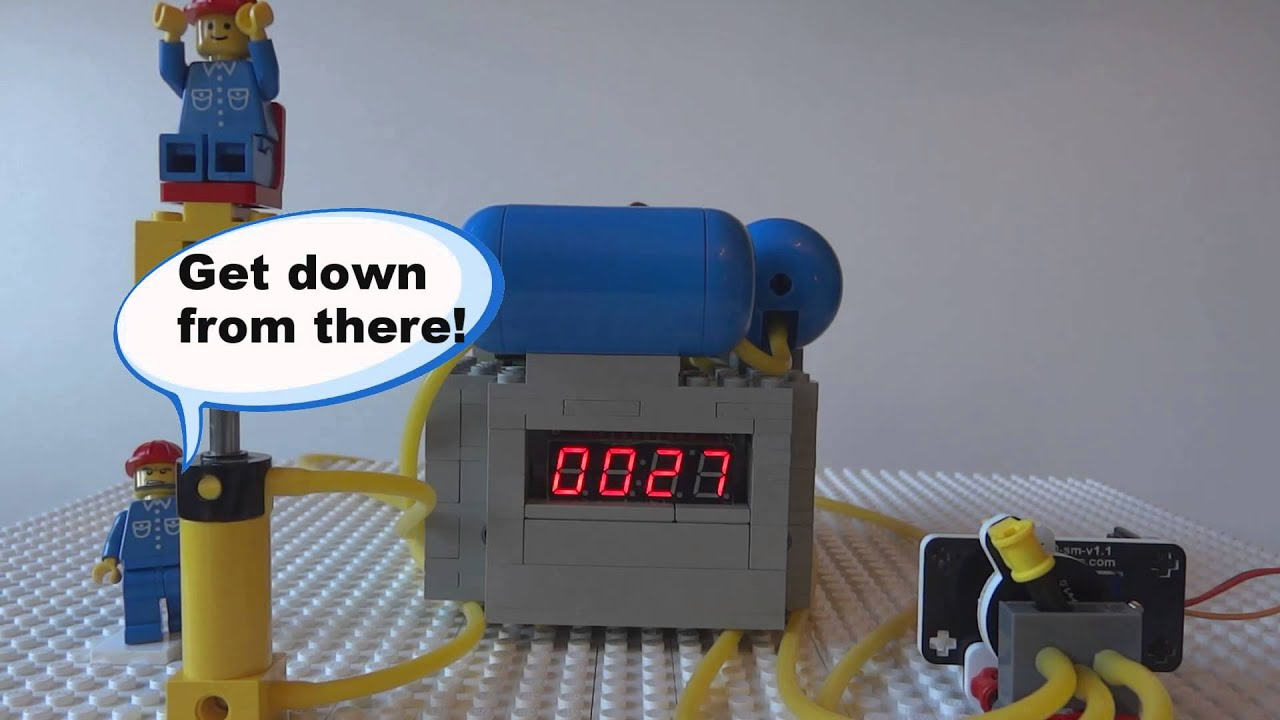 Lego Arduino Regulated Pneumatic Air Compressor Youtube