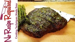 Grilled Flank Steak With Pesto- Noreciperequired.com