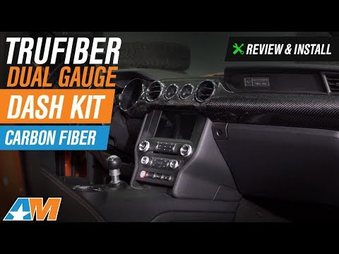 2015-2017 Mustang (Performance Pack GT, EcoBoost) Trufiber Dual Gauge Dash Kit Review & Install
