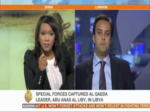 Oct 6, 2013, Al Jazeera interview with Barak Seener on al Qaeda leader capture in Libya