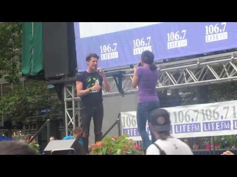 Michael Campayno & Jennifer DiNoia at Broadway In Bryant Park 07-06- 2017