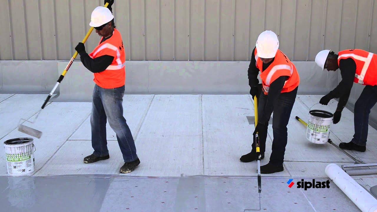 Siplast Parapro Roof Membrane Application Series: Step 7. Apply Parapro Roof  Membrane.   YouTube