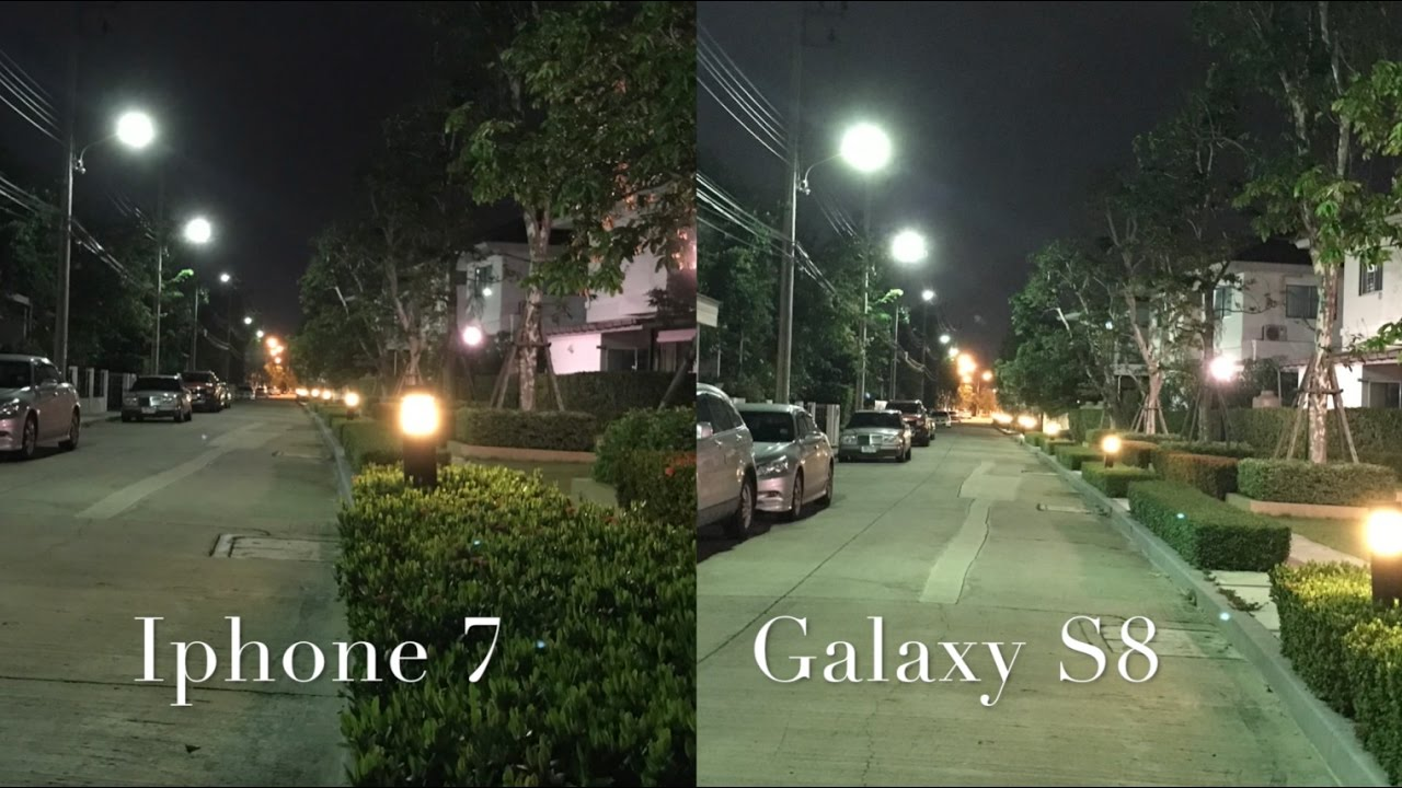 SAMSUNG GALAXY S8 VS IPHONE 7 CAMERA