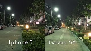 SAMSUNG GALAXY S8 vs IPHONE 7 CAMERA LOW LIGHT REVIEW