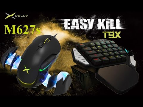 Bàn phím cơ và chuột chơi game PUBG giá rẻ – (Gaming Keyboard Delux T9X and Gaming mouse M627s)