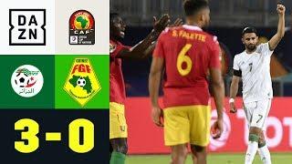 Riyad Mahrez führt Wüstenfüchse ins Viertelfinale: Algerien - Guinea 3:0 | Afrika Cup | DAZN