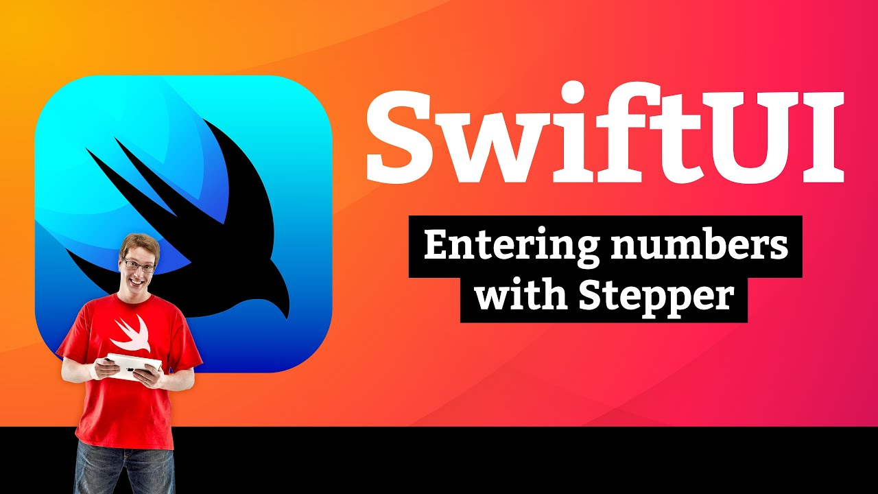 BetterRest 1/7: Entering numbers with Stepper – SwiftUI Tutorial