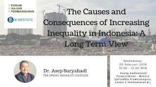 FKP Seminar - Causes and Consequences of Increasing Inequality in Indonesia