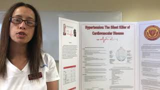 Springfield technical community college nursing student angelina acevedo discusses her scholarly poster presentation, a project that provided students with t...