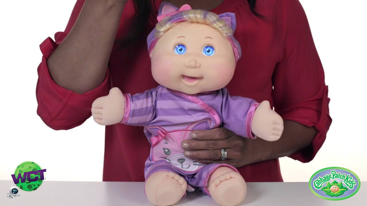 Cabbage patch kids baby so real doll demonstration at toy fair.
