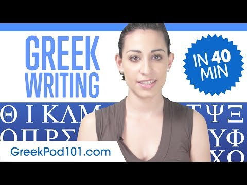 Learn ALL Greek Alphabet in 40 minutes/hour - How to Write a