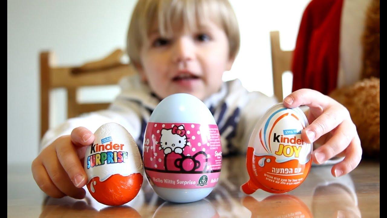 Hello Kitty Egg and Kinder Surprise Egg and Kinder Joy Egg - YouTube