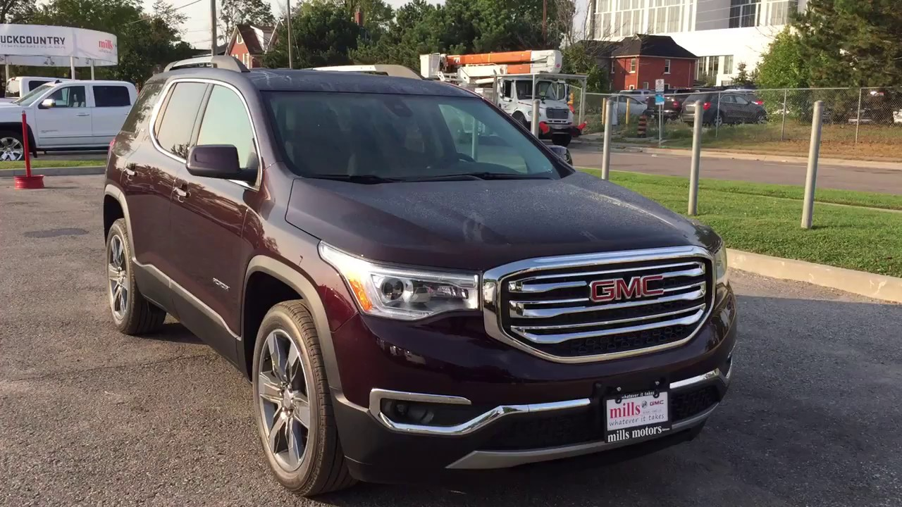 2018 Gmc Acadia Slt 3 6l V6 Third Row Seating Cherry Oshawa On Stock 180080