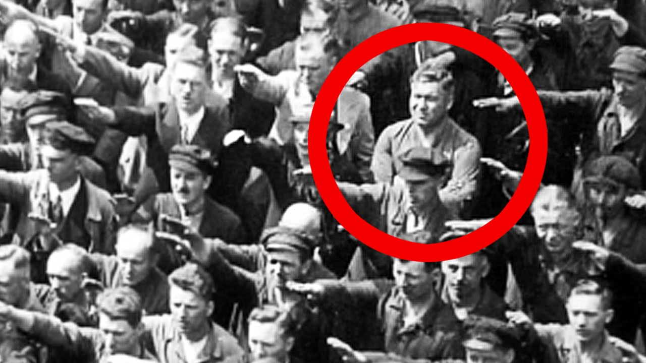 Image result for one did not give the nazi salute