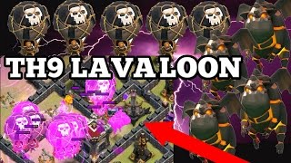 CLASH OF CLANS - TH9 LAVALOONION - BEST CLAN WAR ATTACK STRATEGY