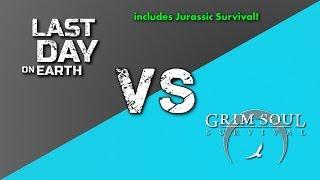 LDOE vs GSDF vs JS. Last Day on Earth vs Grim Soul Dark Fantasy vs Jurassic Survival (Vid#167)
