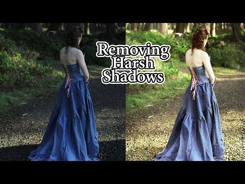 CS5 Photoshop Editing Tutorial: How to brighten dark image remove harsh shadows model out background