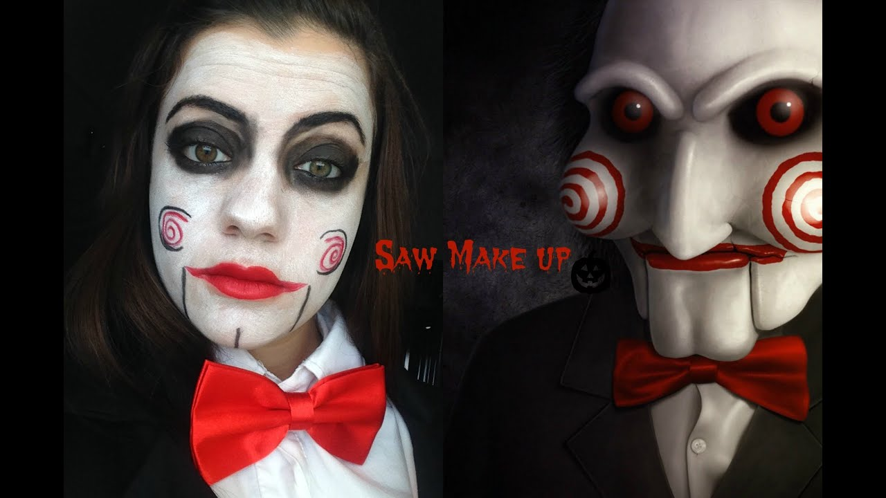 Make up tutorial Saw | Halloween 2014 Coll. Je make up Channel ...