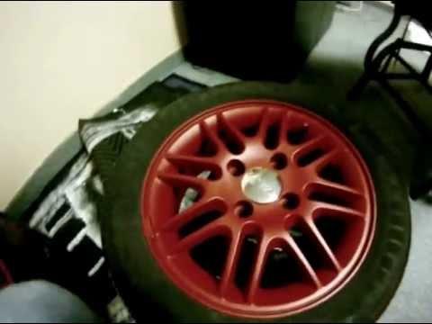 Rims On My Car >> Plastidip Car Rims Process - YouTube