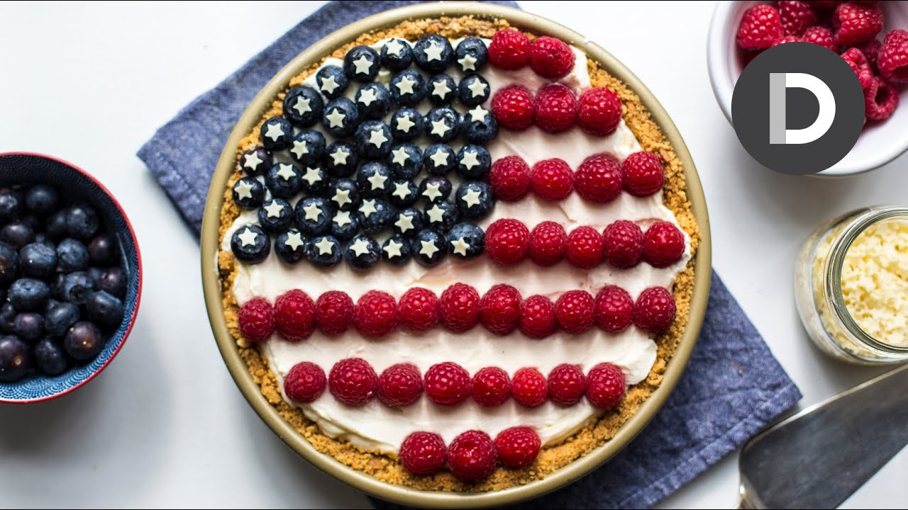 4th Of July No Bake Cheesecake Pie! - YouTube