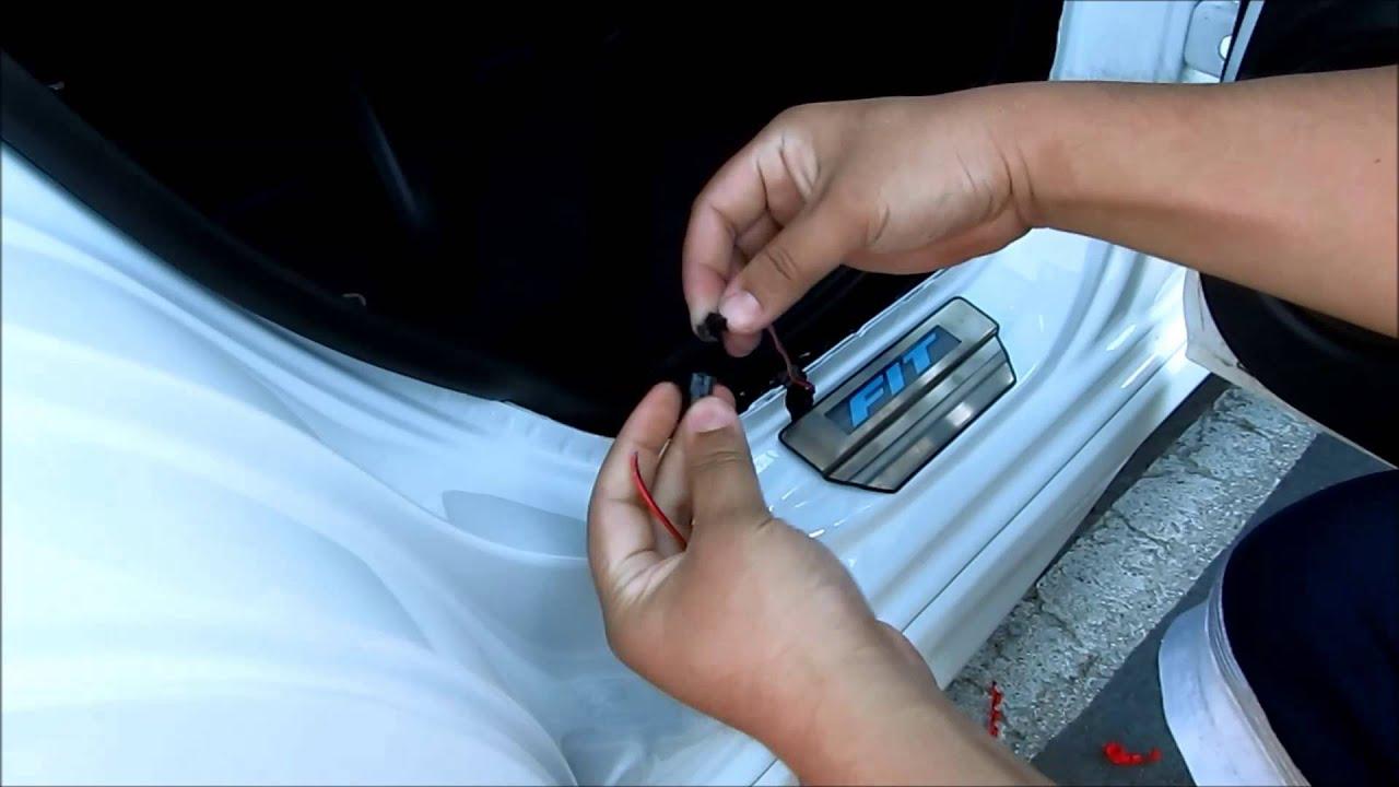 Diy Honda Fit Led Door Sill Install Youtube