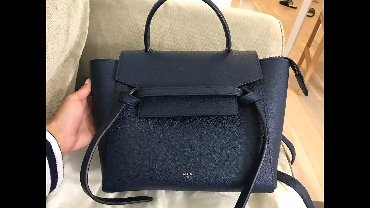 Celine Micro Belt Bag in Steel Blue Review - YouTube