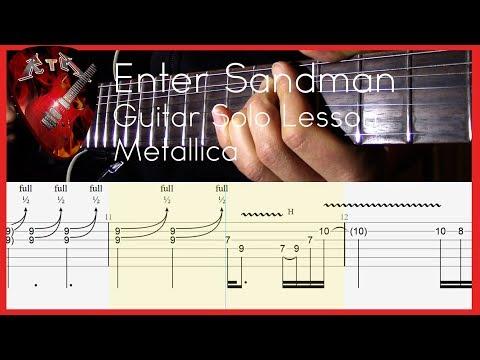 Enter Sandman Guitar Solo Lesson - Metallica (with tabs)
