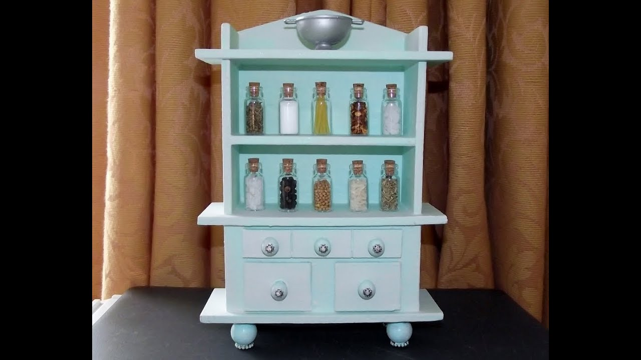 Miniature Kitchen Dresser - Craft Project #22 - YouTube