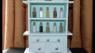 Miniature Kitchen Dresser - Craft Project #22