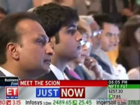 Anil Ambani Introduces Son at ET Awards