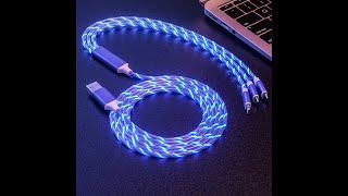 3in1 빛나는 LED 휴대폰 충전케이블