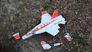 Kevin's MaxJet F/A-18E Maiden and Crash