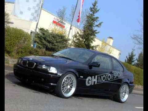 gh motorsport bmw e46 kompressor mit sportabgasanlage. Black Bedroom Furniture Sets. Home Design Ideas
