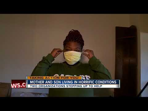 Mother, son living in horrific conditions