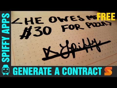 Android App: Shake   Contract App   Make Contracts With Your Droid