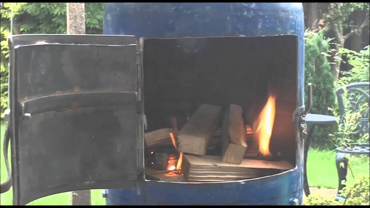 gas bottle stove project first burn youtube