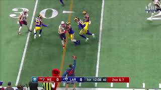 Tom Brady Tosses a Pick on His 1st Pass of the Game | Super Bowl LIII Can't-Miss Play
