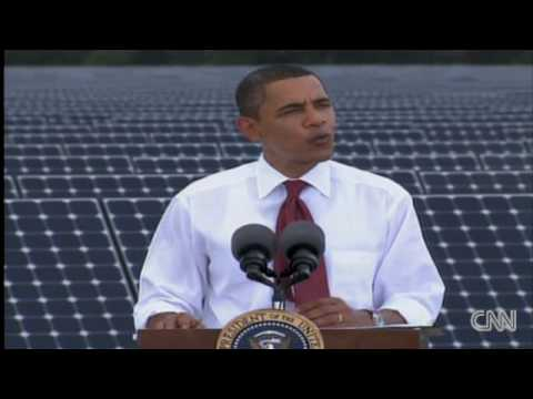 President Obama visits a solar energy plant in Florida