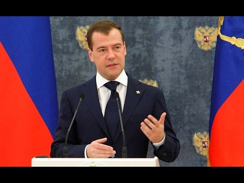 Dmitry Medvedev. Presenting Russian state decorations to foreign citizens