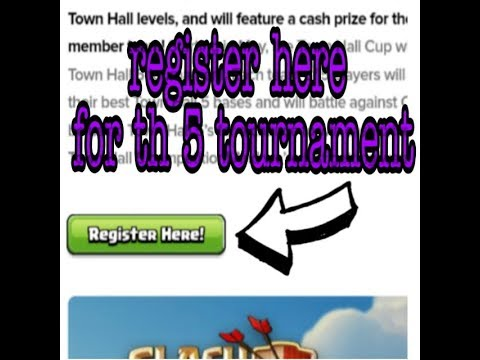 How To Do Registration In Town Hall 5 Tournament In Clash Of Clan //town Hall Cup/clash Of Clans