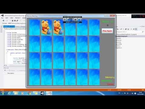 VC# Memory Matching Game (เกมส์จับคู่ภาพ)